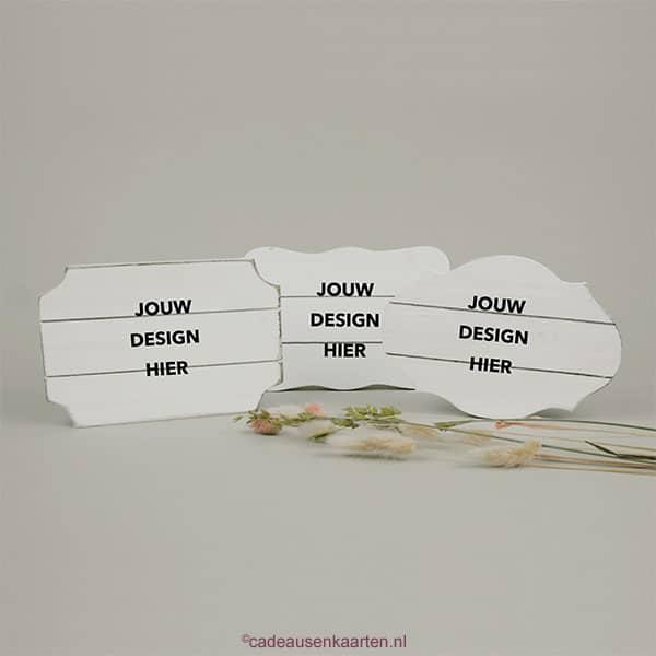 Decoratie borden cadeausenkaarten