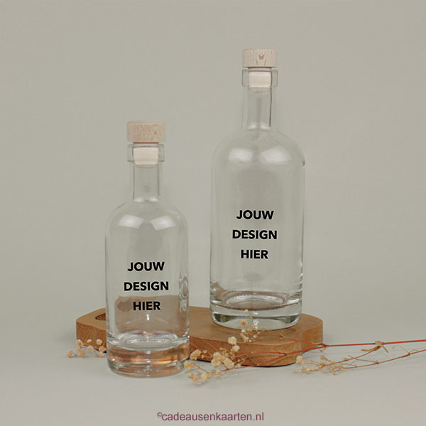 Glazen fles cadeausenkaarten