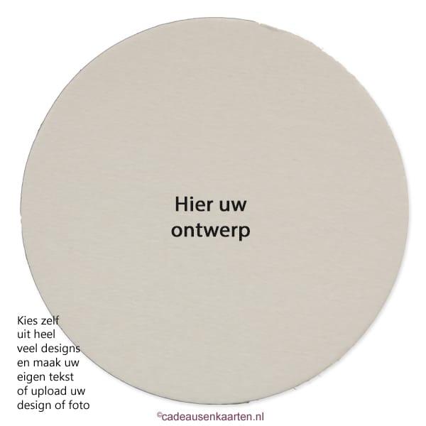 Bierviltje rond met eigen ontwerp cadeausenkaarten.nl
