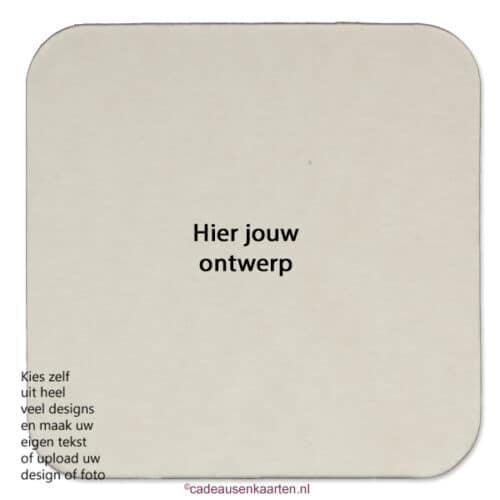 Bierviltje vierkant met eigen ontwerp cadeausenkaarten.nl