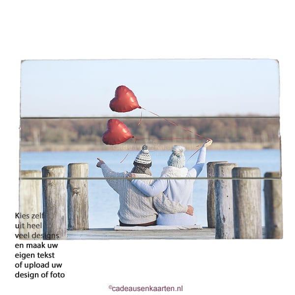 Decoratie bord recht met eigen ontwerp cadeausenkaarten.nl