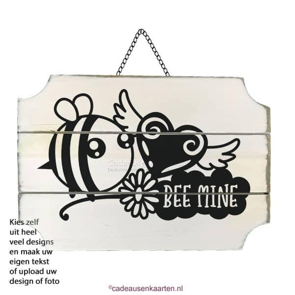 Decoratie bord rechthoekig met eigen ontwerp cadeausenkaarten.nl