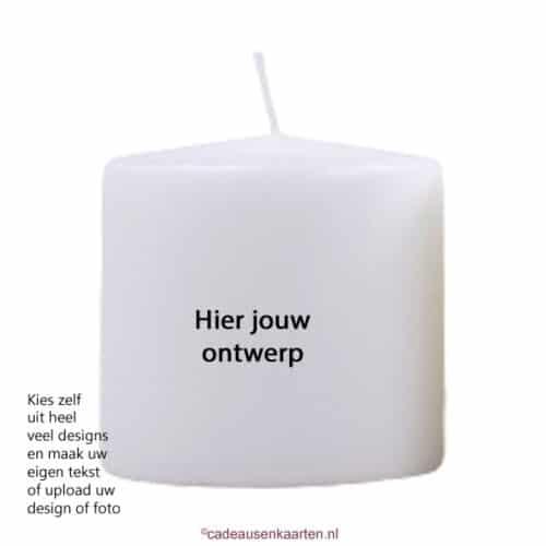 Kaars max met eigen ontwerp cadeausenkaarten.nl