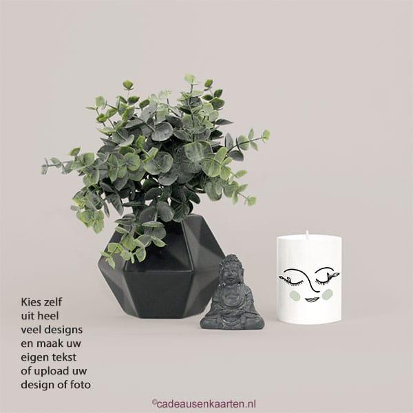 Kaars mini refill met eigen ontwerp cadeausenkaarten.nl