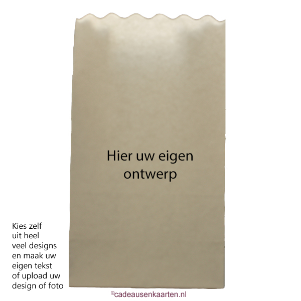 Kaarszakje groot met eigen ontwerp cadeausenkaarten.nl