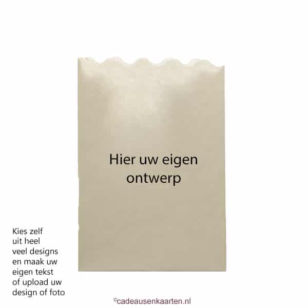 Kaarszakje klein met eigen ontwerp cadeausenkaarten.nl