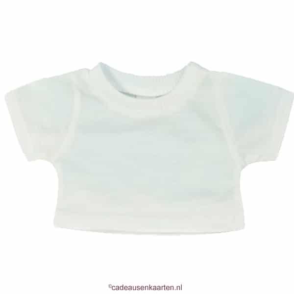 Los T-shirt voor knuffel met eigen ontwerp wit cadeausenkaarten.nl