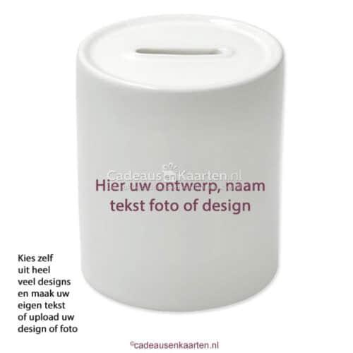 Spaarpot met eigen ontwerp cadeausenkaarten.nl