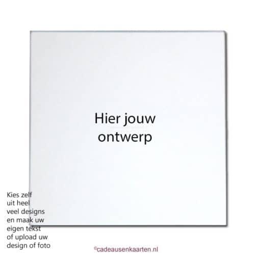 Spiegel met eigen ontwerp cadeausenkaarten.nl