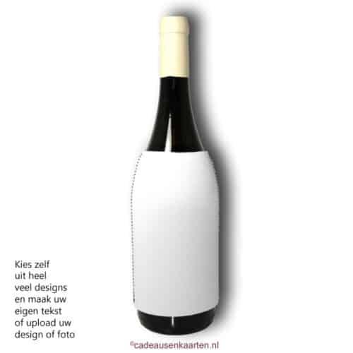 Wijnfleskoeler met eigen ontwerp cadeausenkaarten.nl