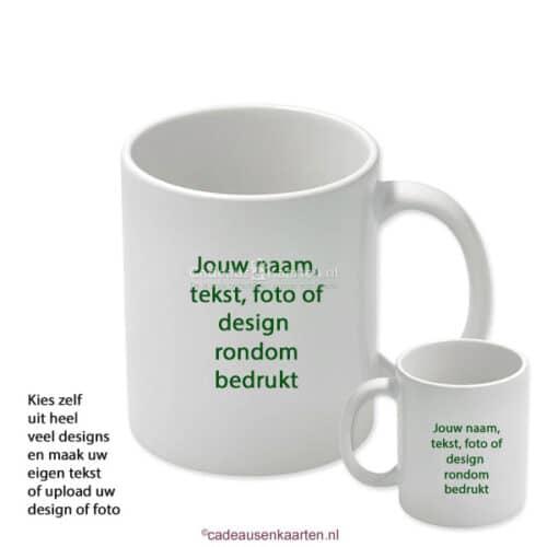 Beker glans groot met eigen ontwerp cadeausenkaarten.nl