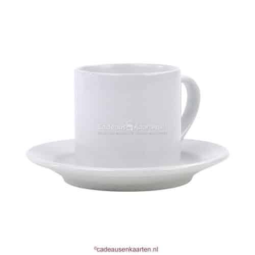 Schoteltje voor espresso kopje cadeausenkaarten.nl